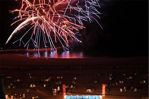 日本海洋上花火大会の写真