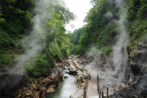 小安峡温泉郷の写真